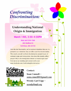 Confronting Discrimination: Understanding National Origin & Immigration @ Boys and Girls Club of Fall River | Fall River | Massachusetts | United States
