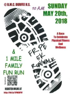 Fall River Physical Education 5K Run/Walk & 1 Mile Family Fun Run @ B.M.C. Durfee High School | Fall River | Massachusetts | United States
