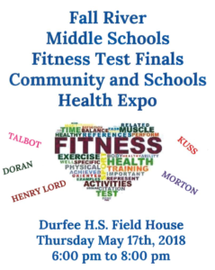 Fall River Middle Schools Fitness Test Finals Community and Schools Health Expo @ B.M.C. Durfee High School Field House | Fall River | Massachusetts | United States