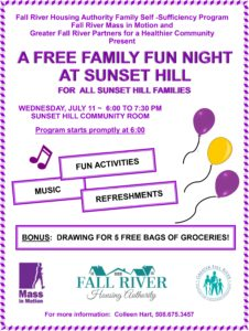 A FREE Family Fun Night at Sunset Hill @ Sunset Hill Community Room | Fall River | Massachusetts | United States