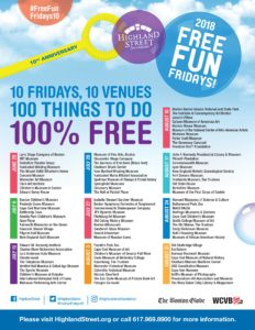 FREE Fun Fridays @ Different locations: Check out the list of locations/venues!