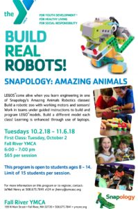 Snapology: Amazing Animals - Build Real Robots! @ Fall River YMCA | Fall River | Massachusetts | United States