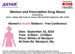 Women and Prescription Drug Abuse @ White's of Westport | Westport | Massachusetts | United States