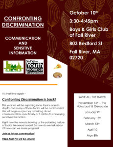 Confronting Discrimination @ Boys & Girls Club of Fall River | Fall River | Massachusetts | United States