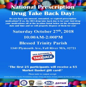 National Prescription Drug Take Back Day! @ Blessed Trinity Parish | Fall River | Massachusetts | United States