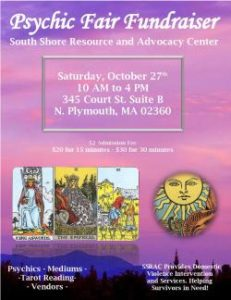 Psychic Fair Fundraiser @ South Shore Resource Center and Advocacy Center | Plymouth | Massachusetts | United States