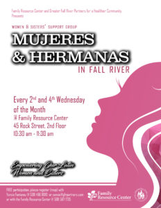 Mujeres & Hermanas: Support Group for Latino Women @ Family Resource Center, 2nd floor