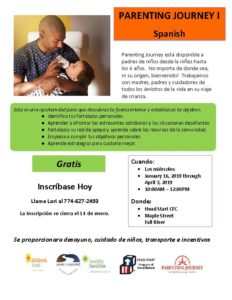 SPANISH - Parenting Journey I @ Head Start CFC