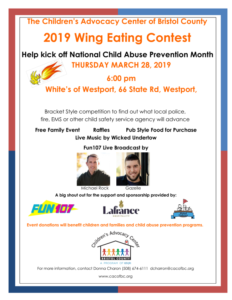 2019 Wing Eating Contest presented by The Children's Advocacy Center for Bristol County @ White's of Westport