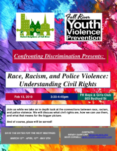 Confronting Discrimination presents: Race, Racism and Police Violence: Understanding Civil Rights @ Fall River Boys and Girls Club