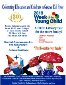 2019 Week of the Young Child | Celebrating Education and Childcare in Greater Fall River @ Kuss Middle School