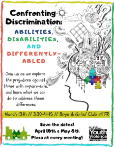 Confronting Discrimination: Abilities, Disabilities and Differently-Abled @ Boys and Girls Club of Fall River