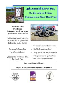 4th Annual Earth Day @ Alfred J. Lima Quequechan River Rail Trail