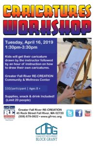Caricatures Workshop @ Greater Fall River RE-CREATION