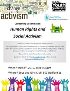 Confronting Discrimination: Human Rights and Social Activism @ Boys and Girls Club of Fall River | Community Room