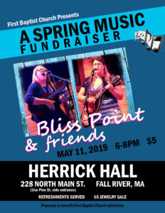 First Baptist Church Presents...A Spring Music Fundraiser @ Herrick Hall