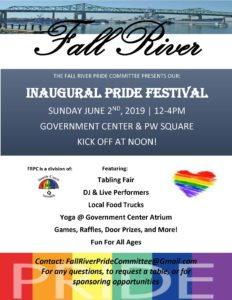 Fall River PRIDE Committee Presents: INAUGURAL PRIDE FESTIVAL @ Government Center & PW Square