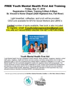 FREE Youth Mental Health First Aid Training @ St. Vincent's Home Chapel