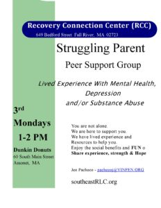 Recovery Connection Center (RCC): Struggling Parent Peer Support Group @ Dunkin Donuts