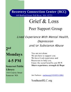 Recovery Connection Center (RCC): Grief and Loss Peer Support Group @ Somerset Public Library