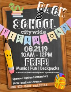 Back 2 School Citywide Field Day @ Spencer Borden Elementary School