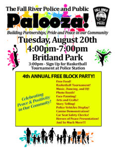 The 4th Annual Fall River Police and Public Palooze @ Britland Park
