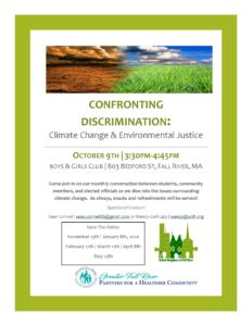 Confronting Discrimination: Climate Change & Environmental Justice @ Boys & Girls Club