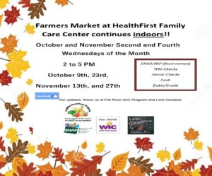 Farmer's Market at HealthFirst Family Care Center Continues Indoors! @ HealthFirst Family Care Center